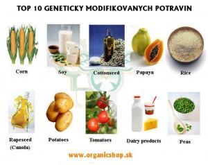 TOP 10 GMO (Geneticky modifikovaných) POTRAVIN!!!